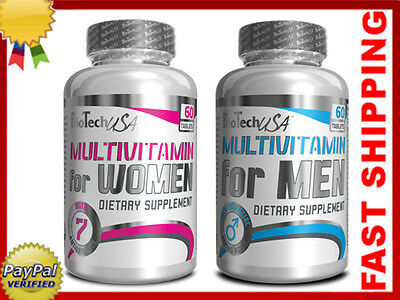 BIOTECH USA Multi Vitamin Mineral Men & Women 60 cap antioxidant FREE SHIPPING