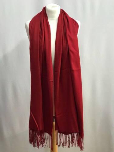 Ladies Women Winter Warm Pashmina Silk Cashmere Solid Long Shawl Wrap Big Scarf