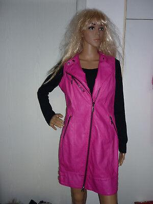 Details zu Lederweste pink Gr MLederjacke pink fuchsia Gr MWeste pink Gr M