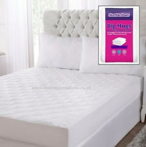 """Polycotton mattress protector for 3/'6/"""" x 6/'6/"""" bed 107cm x 200cm bed 15/"""" depth"""