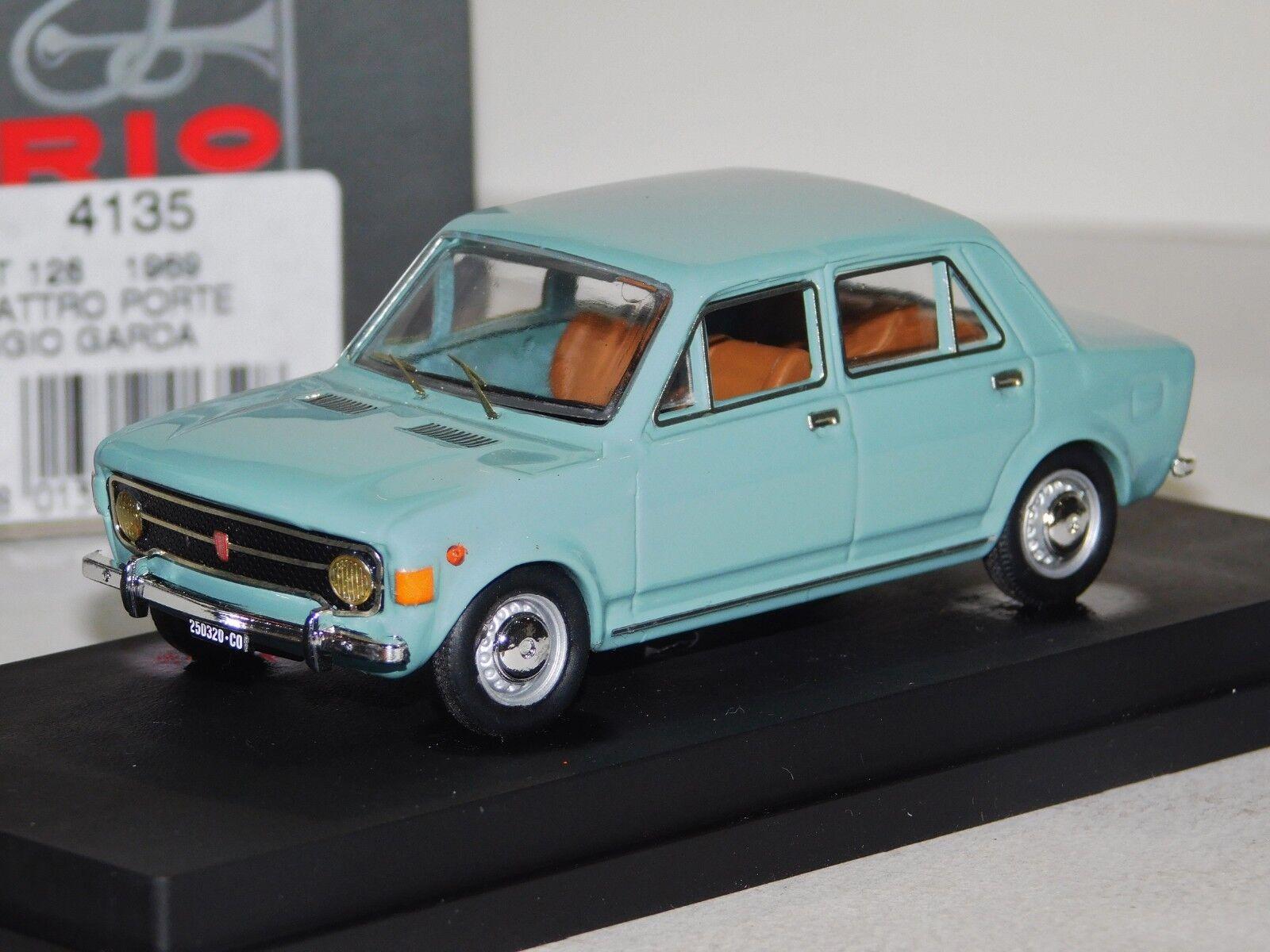 FIAT 128 grey GARDA QUATTRO PORTE 1969 RIO 4135 1 43