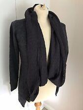 Uttam London - Women's Ladies Grey Charcoal Cardigan ~ Size M / L Medium Large