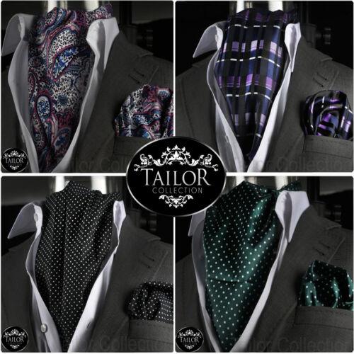 Brand New Mens Smart Casual Silk Italian Cravat /& Hanky Handkerchief Set Paisley