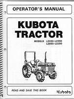 Kubota L2250, L2550, L2850, L3250 Operator Manual