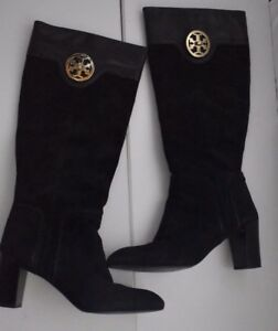 d9ee25d6fbcb Tory Burch knee high black riding suede leather boots 3