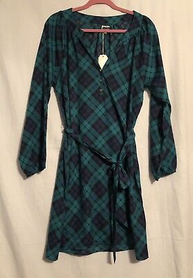 NWT Green//Navy Shirtdress by Mud Pie Size Large