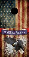 Bald Eagle - God Bless The Usa Cornhole Board Prints / Wraps
