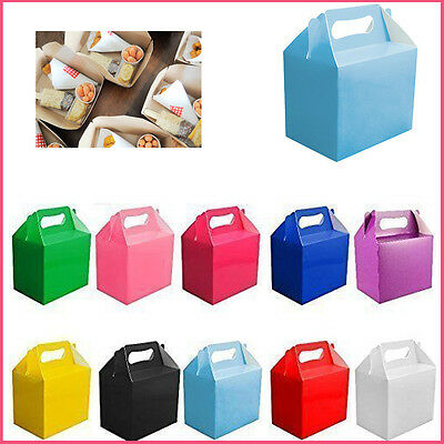 5,10 Party Boxes Food Loot Lunch Cardboard Gift Wedding Kid's Party Treat Bag