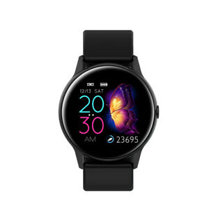 Smartwatch-DT88-OLED-Puls-Uhr-Fitness-Armband-IP67-Wasserdicht-iOS-Android-Black