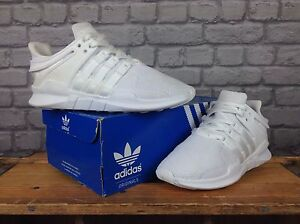 check out a66e6 b91f7 Details about ADIDAS MENS UK 7 EU 40 2/3 WHITE EQT SUPPORT ADV TRAINERS  PINK LOGO