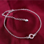 miniature 77 - 925 Sterling Silver Plated Anklet Ankle Bracelet Crystal Foot Chain Ladies CZ UK