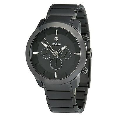 Fossil Black IP Stainless Steel With Diamond Men's Chronograph Watch FS4531