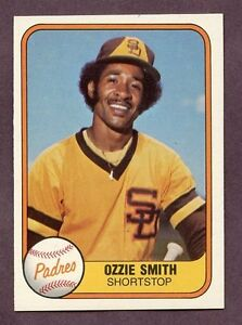 Details About 1981 Fleer Ozzie Smith 488 Baseball Card