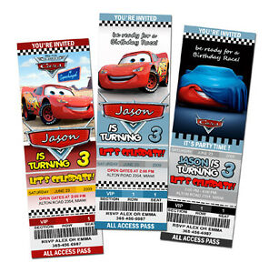 Image Is Loading 12 Designs CARS DISNEY MCQUEEN 1 2 BIRTHDAY