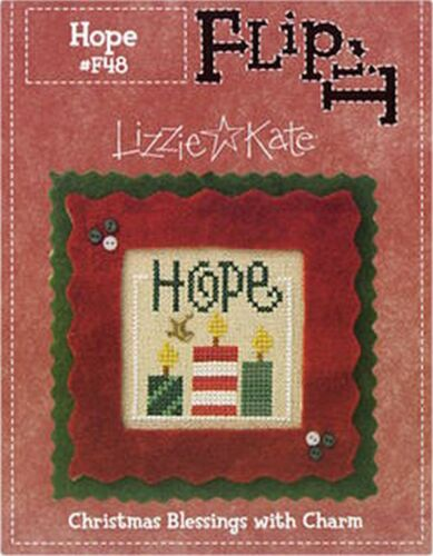 CHRISTMAS BLESSINGS FLIP IT HOPE LIZZIE KATE W//CHARM CROSS STITCH PATTERN