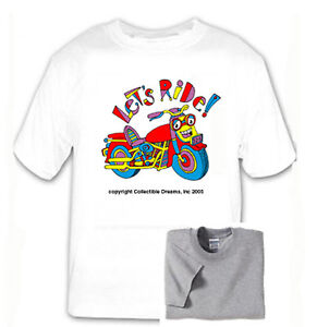 Motorcycle-T-Shirt-Multiple-Sizes-Colors-Kids-Boys-Girls-Happy-Bright-Free-Ship