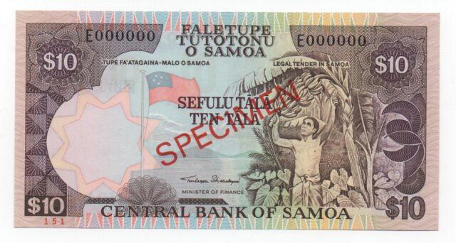 WESTERN SAMOA 10 TALA 2002 PICK 34 A SPECIMEN UNC