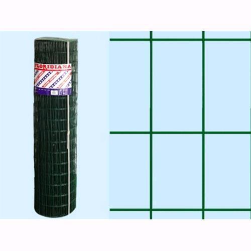 H.100 cm Rete Recinzione Plastificata Verde Floridiana 25 mt maglia 75x50 m