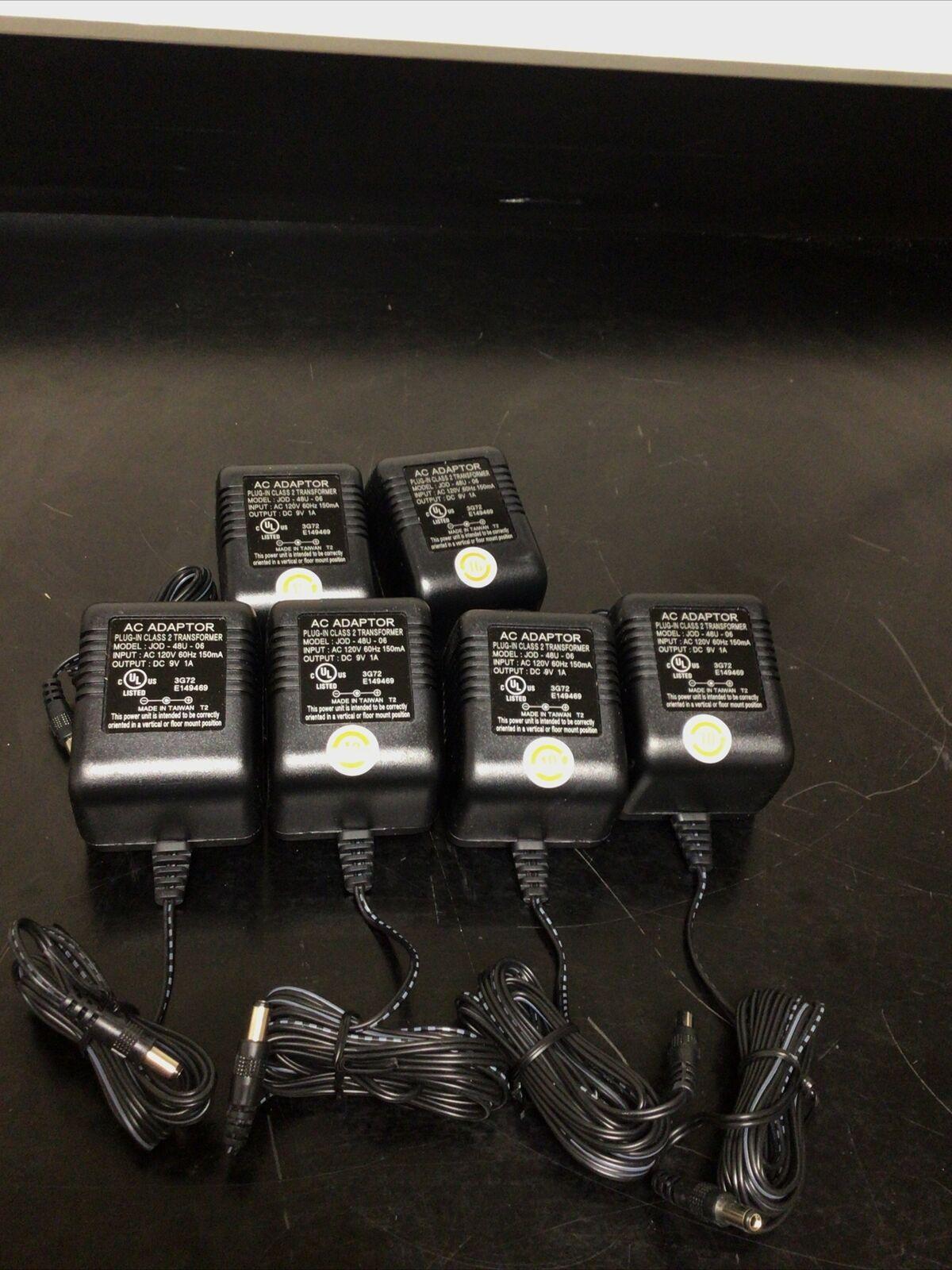 Lot Of 6 AC Adapter JOD-48U-06 9V 1A