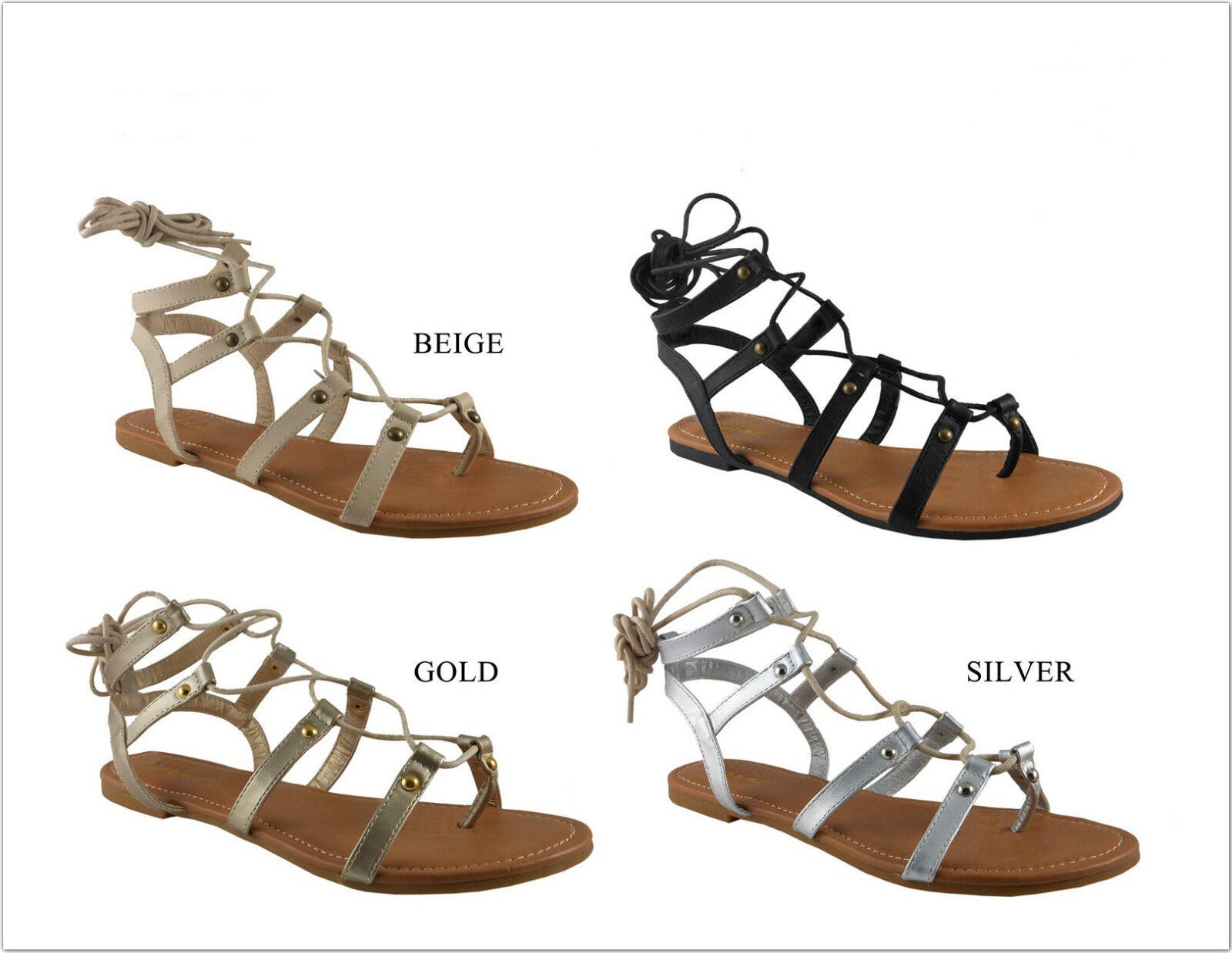 Brand Straps New Women's Fashion String Straps Brand Sandal Shoes Size 6 - 10 1f5fb0