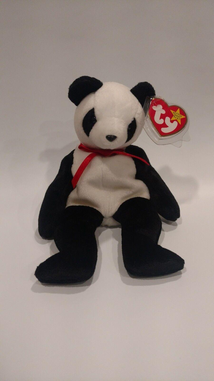 'Fortune' the Panda Panda Panda Beanie Baby - MULTIPLE ERRORS - MINT - RETIRED c34884