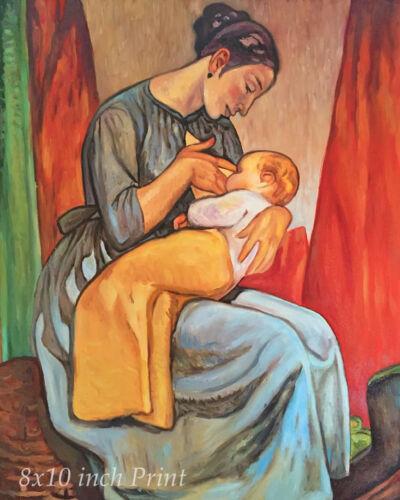 Mother Breastfeeding Baby Child 8x10 Print 1798 La Crianza by Aurelio Arteta