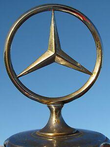 Mercedes benz antique car mascot radiator ornament emblem for Mercedes benz ornaments