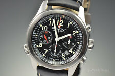 Mens Bremont Pilot Automatic Chronograph Stainless Steel 43MM Watch ALT1-P/BK