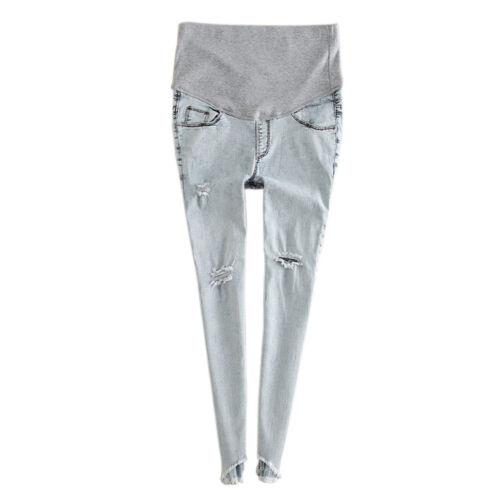 Maternity Jeans Pants Pregnant Trouser Vintage Elastic Leggings Belly Band Pants