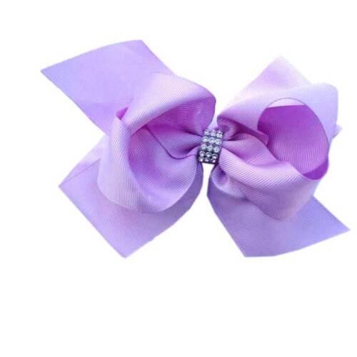 6/'/' Diamante Bow Hair Clip Alligator Clips Girls Ladies Ribbon Grosgrain Uniform