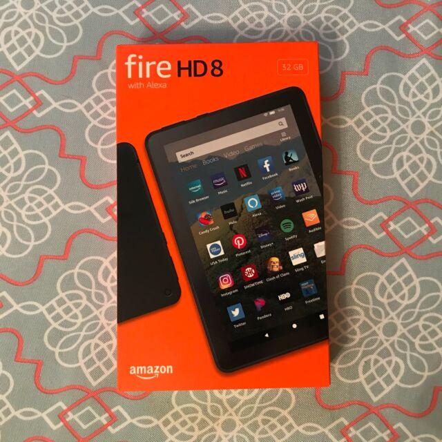 "New & Sealed Amazon Fire HD 8 10th Gen. Tablet, 8"" 32GB, Black, 2020 Released"