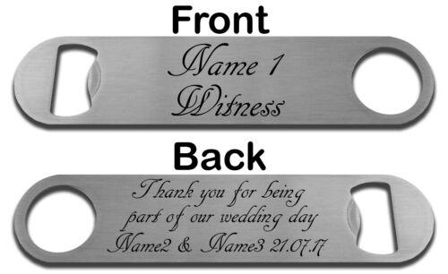 COFFRET FACULTATIF MARIAGE MERCI FAVORABLE BOUTEILLE EN ACIER PERSONNALISÉE OUVRE-PORTE
