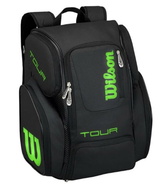 Wilson Tour V 15 Backpack Large Bags Sports Black Uni Casual Bag Wrz845596