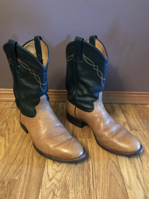 Leather Cowboy BOOTS Size 10 D Brown