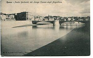1908-Roma-Ponte-Garibaldi-Lungo-Tevere-degli-Anguillara-dest-Lucca-FP-B-N-VG