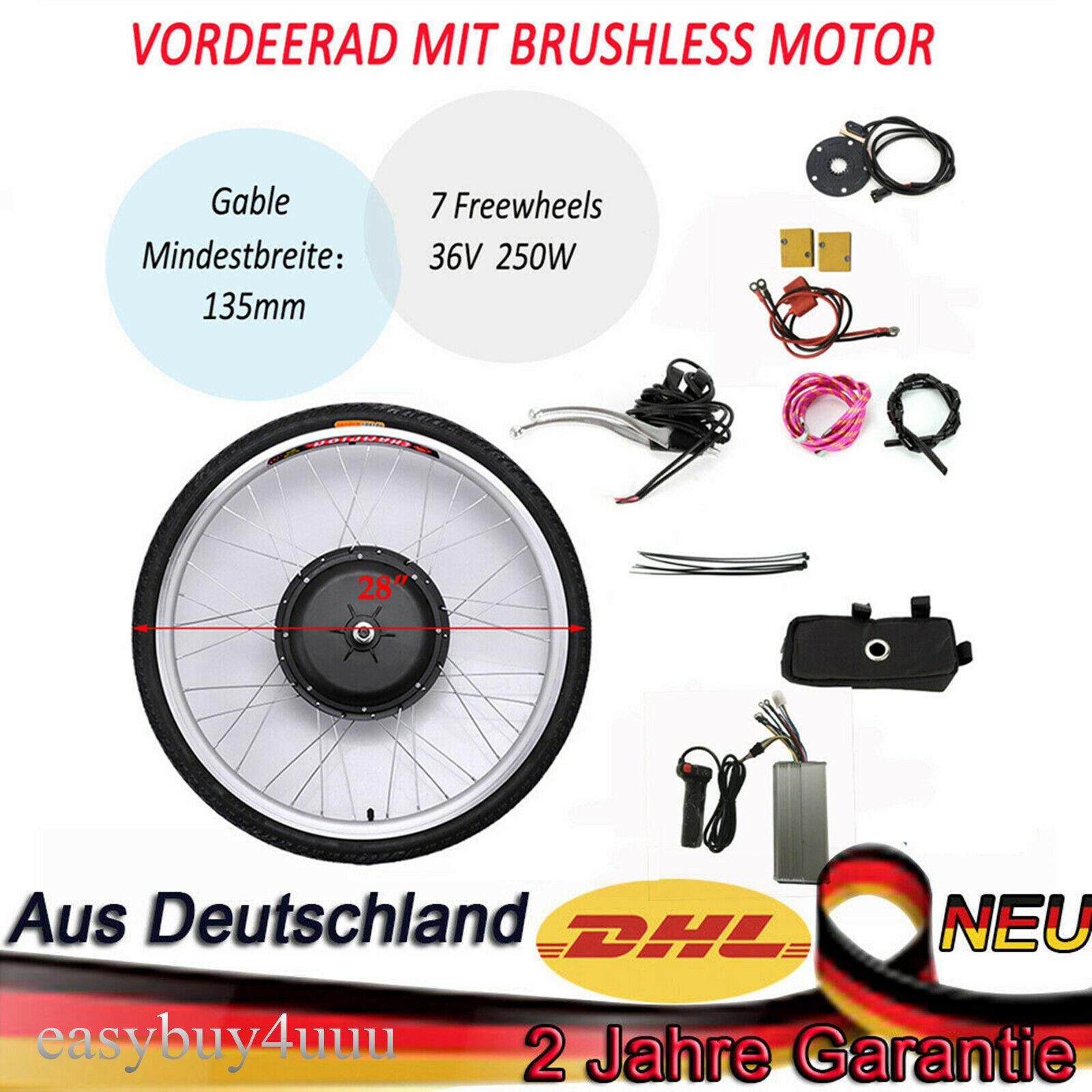 Bicicleta eléctrica Ebicicletta 250W 28 Kit Conversión Motor Hub para rueda Delantera