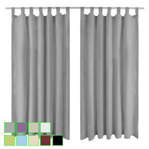 Details zu 2x Schlaufen-Vorhänge Set Kinderzimmer Vorhang Gardine  Blickdicht Schlafzimmer