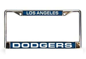 Los-Angeles-Dodgers-Laser-Cut-Chrome-Metal-License-Plate-Frame