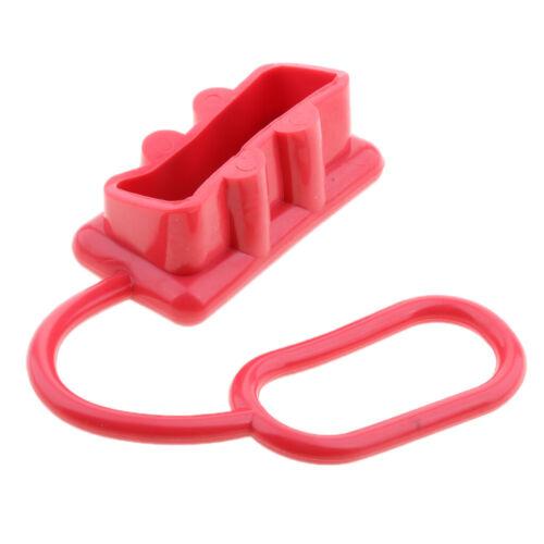 Satz Von 2 Roten Staubschutzdeckel Endkappe Für Stecker 175 AMP Stecker
