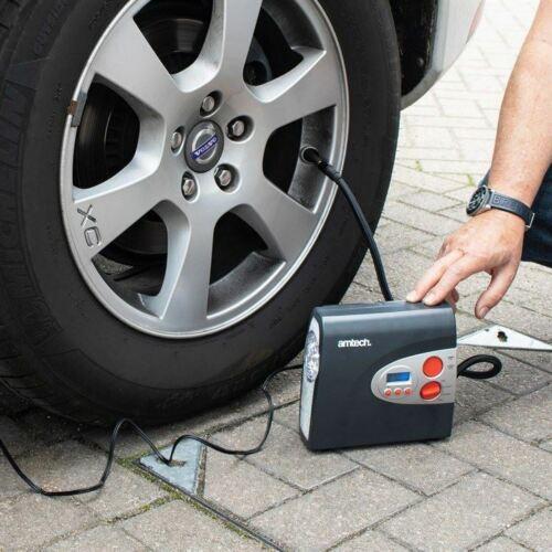 12V Electric Car Tyre Inflator Pump Digital Portable Tyre Air Compressor Pump