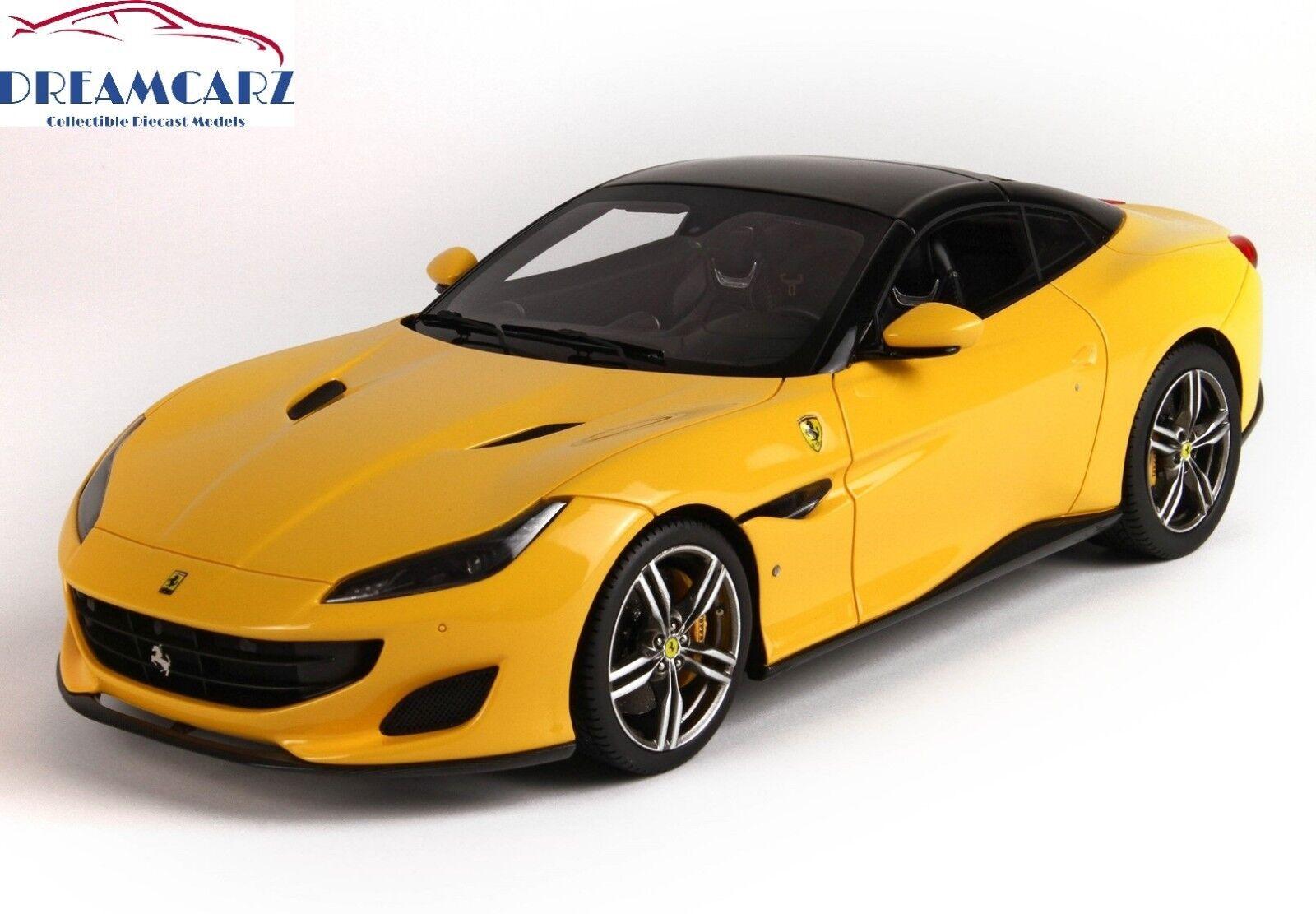 BBR 1/18 Ferrari Portofino Closed P18157DGB - with Display Case, Limited 12 pcs!