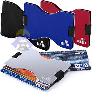 Porta-CARTE-di-CREDITO-Custodia-RFID-per-Sicurezza-TESSERE-Documenti-CONTENITORE