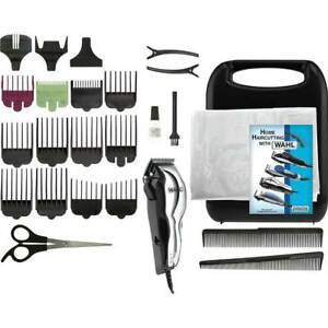 Wahl-79520-500-Chrome-Pro-25-Pc-Haircutting-Kit-Part-Brand-New-For-All-Hair
