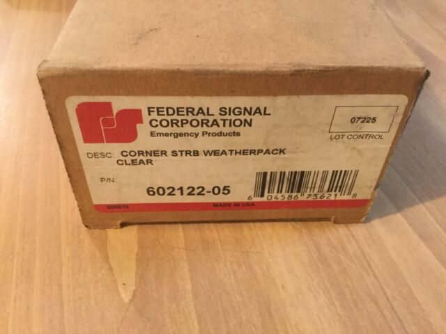 USED FEDERAL SIGNAL RED CORNER LED STROBE TUBE W// AMP CONNECTOR