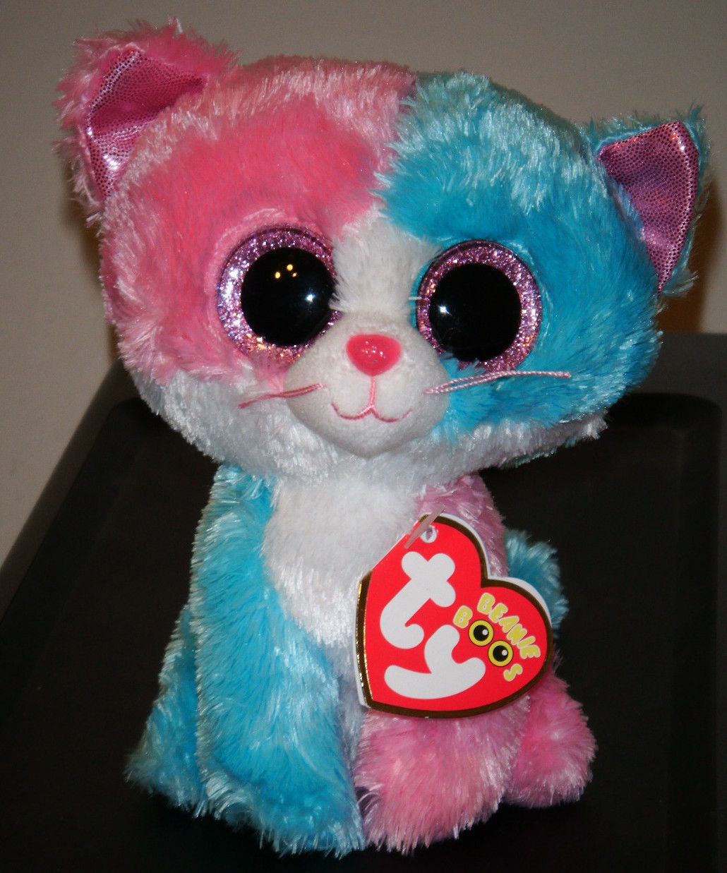 Ty Beanie Boos  FIONA the Cat (6 Inch)(2014 Justice Exclusive) NEW MWMT