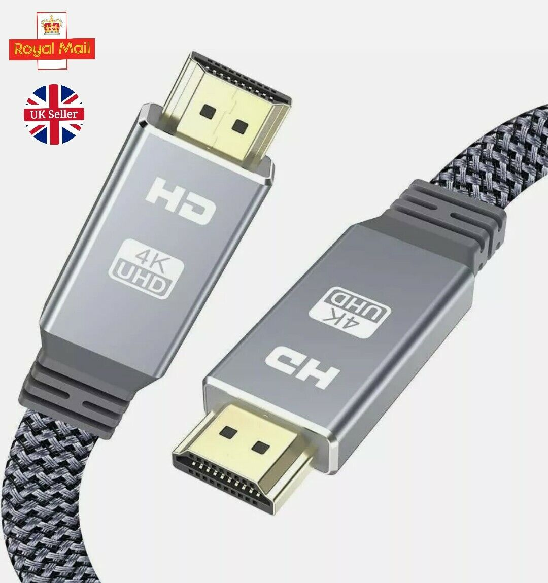 4K HDMI to HDMI Nylon Flat Ultra high speed 18Gbps 4K 1080 UHD 2160p Cable 2.0