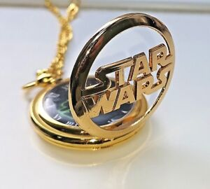 Star Wars Gold Pocket Watch Space Opera Antique Science Fiction