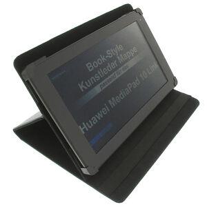 Housse-pour-Huawei-Mediapad-10-Link-Style-Livre-Tablette-Poche-Couverture-Noir