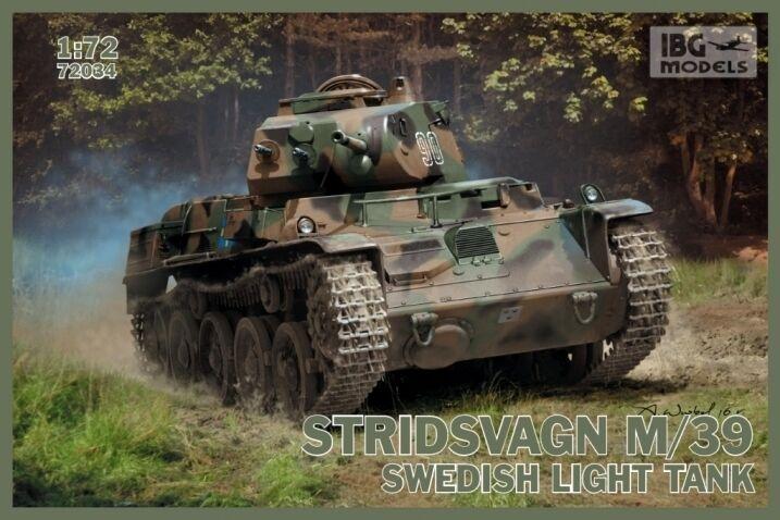STRIDSVAGN M 39 (Landsverk strv. L-60 S     II) Swedish Tank 1 72 IBG NUOVO d53e71