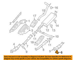 Nissan Oem Exhaust Front Muffler Gasket 2069130p0a Ebay